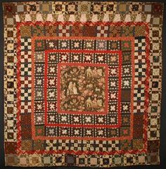 Pieced Center Medallion Quilt: Circa 1870; Pennsylvania
