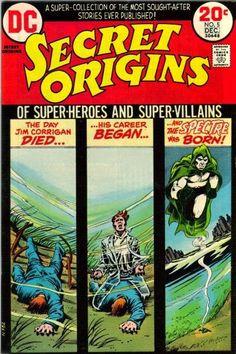 Secret Origins The Spectre. Cover by Nick Cardy. Comic Books For Sale, Vintage Comic Books, Vintage Comics, Comic Books Art, Comic Art, Book Art, Arte Dc Comics, Old Comics, The Spectre