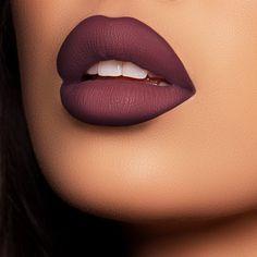 Plum Color Lipstick, Matte Lipstick Shades, Lipstick For Dark Skin, Plum Lipstick Makeup, Fall Lip Color, Dark Red Lips, Natural Lipstick, Matte Lip Color, Makeup Tutorials
