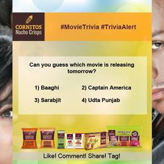 #MovieTrivia #TriviaAlert Can you guess which movie is releasing tomorrow? #Like #Comment #Share #Tag