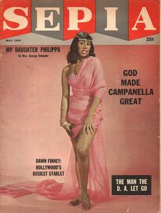 """Actress Dawn Finney on the cover of """"Sepia"""" magazine, May, Classic Ladies of Color Jet Magazine, Black Magazine, Women In History, Black History, Ebony Magazine Cover, Magazine Covers, Vintage Black Glamour, Vintage Beauty, My Black Is Beautiful"""