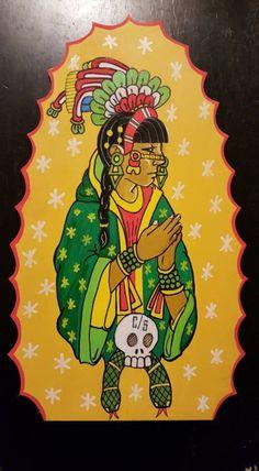Tonantzin by Jake Prendez Chicano Love, Chicano Art, Quetzalcoatl Tattoo, Aztec Tattoo Designs, Latino Art, Aztec Culture, 4 Tattoo, Aztec Art, Indigenous Art