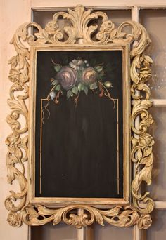 Framed French Inspired Chalkboard Whole