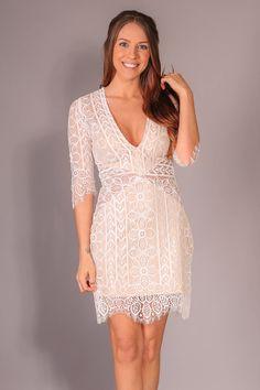 Amanda Dress Dress - Ivory – Hazel & Olive