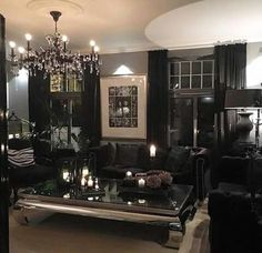 Modern gothic Lounge room
