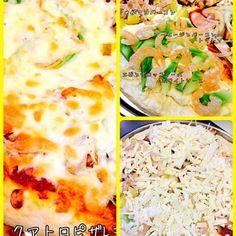自家製ピザです☆ - 55件のもぐもぐ - タミさんの台所☆クアトロピザ☆Lサイズ by avecamourmAnm