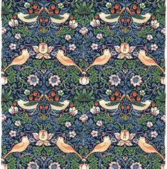 William Morris strawberry thief print for window seat and valence