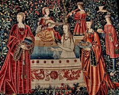 LibGuides: Fashion and Clothing History: Medieval World Medieval Tapestry, Medieval Art, Renaissance Art, Weaving Art, Tapestry Weaving, Historical Costume, Historical Clothing, High Middle Ages, Medieval Paintings