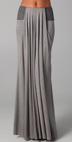 Waterfall style maxi skirt