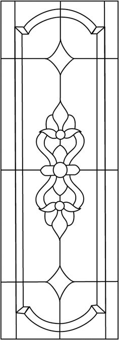 Stained Glass Panel Pattern