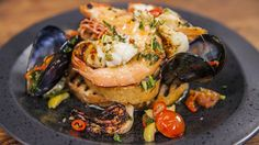 Chargrilled Seafood in Sauce Vierge