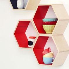 Hexagon Shelving #designeveryday