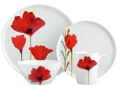 Margaret Berg Art: Wild Poppies Dinnerware