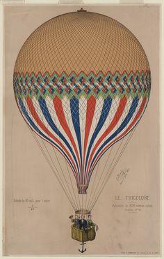 Vintage Hot Air Balloons Printables