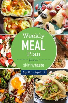 Meal Plan (April : A free flexible weight loss meal plan including breakfast, lunch and dinner and a shopping list. All recipes include calories and Weight Watchers Freestyle™ SmartPoints®. Ketogenic Diet Meal Plan, Diet Meal Plans, Keto Meal, Ketogenic Girl, Paleo Diet, Weight Loss Meal Plan, Weight Watchers Meals, Wieght Watchers, Easy Meal Prep