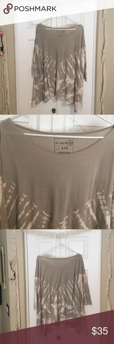 Free People Boho Tee Free People LA Livin coastal tee. This is a staple for your closet in stone color so it goes with everything.  Received as a gift and it has never been worn. Free People Tops Tees - Long Sleeve