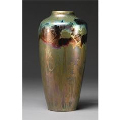Clément Massier (1844-1917), Iridescent Glazed Decorated Ceramic Vase.
