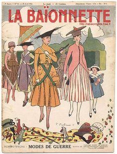 La Baïonnette. Modes de Guerre. 20 avril 1916