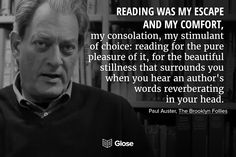Paul Auster, The Brooklyn Follies Best Quotes From Books, Book Quotes, Paul Auster, Good Readers, Brooklyn, My Escape, Any Book, Free Books, Quotes