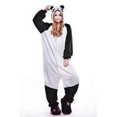 Kigurumi Pijamas New Cosplay® / Panda Malha Collant/Pijama Macacão Festival/Celebração Pijamas Animal Preto/Branco Miscelânea Lã Polar de 1410806 2016 por R$69,93