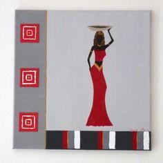 1000 id es sur le th me tableau africain sur pinterest for Peinture chambre style africain