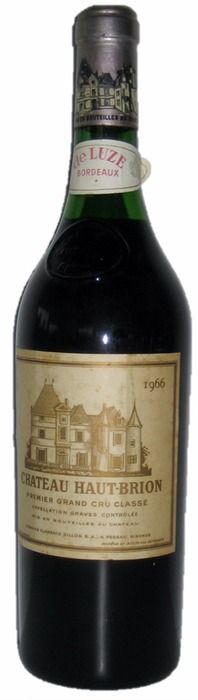 Currently at the Catawiki auctions: Château Haut-Brion 1966, 1Er Cru Classe, 1 bottle of Red wine - Bordeaux - Pessac-Leognan