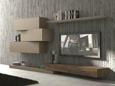 Parete attrezzata componibile fissata a muro con porta tv #263 - Presotto