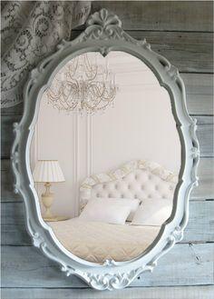 Shabby Chic Oval mirror. $329.00, via Etsy.