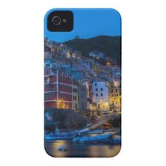 #Riomaggiore at night Cinque Terre Liguria Italy iPhone 4 Case-Mate Case - #travel #electronics