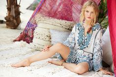 Enjoy an additional 60% off select sale styles this weekend ONLINE ONLY! Velsia Embroidered Silk Tunic