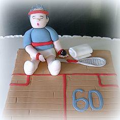 Squash player cake.