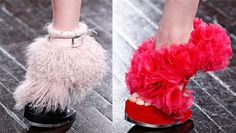 Alexander McQueen's chic and futuristic shoes were as much an art form as a statement piece on the runway this season.