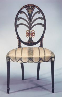 Pair of side chairs Date: 1795–1800 Geography: Mid-Atlantic, Philadelphia, Pennsylvania, United States Culture: American Medium: Painted maple with white pine