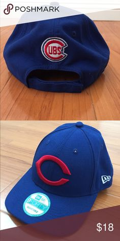Chicago Cubs New Era 9Forty Baseball cap Adjustable, Cubs blue, vintage Cooperstown front logo New Era Accessories Hats
