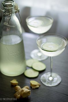 Cucumber Ginger Mocktail - the perfect non-alcoholic summer cocktail. Elegant and gourmet, you won't miss the booze!