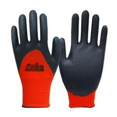Red Nitrile Full Finger Coating Nonslip Safety Mechanic Work Gloves 9/Large size
