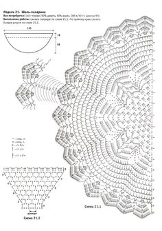 diagrams crochet lace | SIMPLE CROCHET SHAWL PATTERNS | FREE PATTERNS