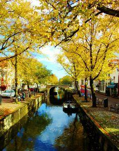 Canals in edam, Netherlands