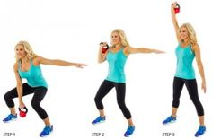 brooke griffin doing a kettlebell hang clean