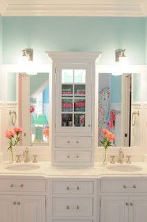 Love this color for downstairs bathroom
