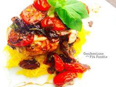 21 Day Fix Balsamic Chicken over Spaghetti Squash