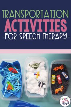 Tons of ideas for transportation themed activities for speech therapy, including crafts, sensory bins, books, and games! Articulation Activities, Art Therapy Activities, Speech Therapy Activities, Preschool Activities, Articulation Therapy, Therapy Ideas, Preschool Speech Therapy, Speech Language Pathology, Speech And Language