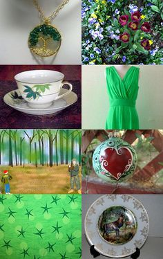 """I Dream of Green"" by ChinaGalore --Pinned with TreasuryPin.com"