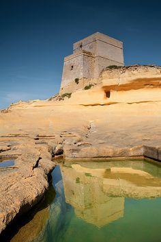 xlendi tower, gozo, malta   travel destinations in europe + fortifications #wanderlust