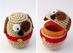 Las Teje y Maneje: AMIGURUMI & KINDER EGGS Crochet Baby Toys, Easter Crochet, Knit Crochet, Cute Toys, Easter Crafts, Diy Gifts, Easter Eggs, Sewing Crafts, New Baby Products