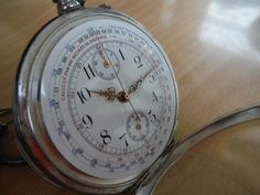 ~1907 Longines cal. 19.73 Tachymeter Chronograph Niello Pocket Watch +Box +Chain | eBay
