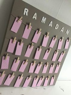 Ramadan calendar (girl version)