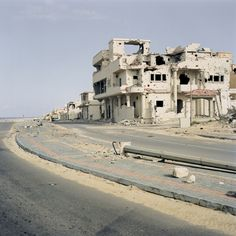 A silent Libya after Gadhafi  Shelled and destroyed buildings on the coast in Sirte. (Mads Nissen/Berlingske/Panos Pictures)