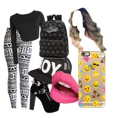 """""""ttfn"""" by steamynightmare on Polyvore featuring WithChic, Jeffrey Campbell, BOY London, Vans, Fiebiger and Casetify"""