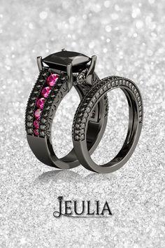 121 Best Black Diamond Engagement Rings Images On Pinterest Black